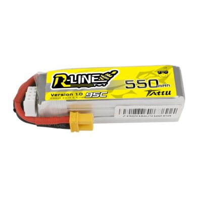 Tattu R-Line 550mAh 11.1V 95C 3S1P Lipo Battery Pack with XT30 Plug - Long Size